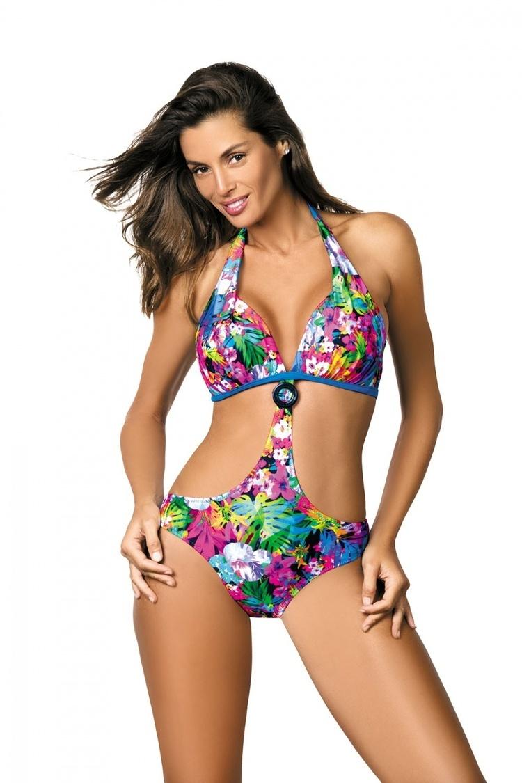 Jednoczęściowy strój kąpielowy Kostium Kąpielowy Model Sandra Sicily M-431 Blue - Marko