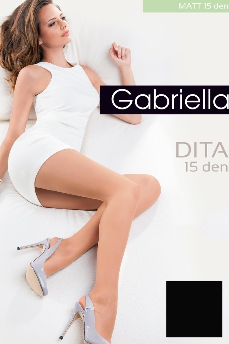 Rajstopy Klasyczne Model Dita Matt 15 Den Code 713 Nero - Gabriella