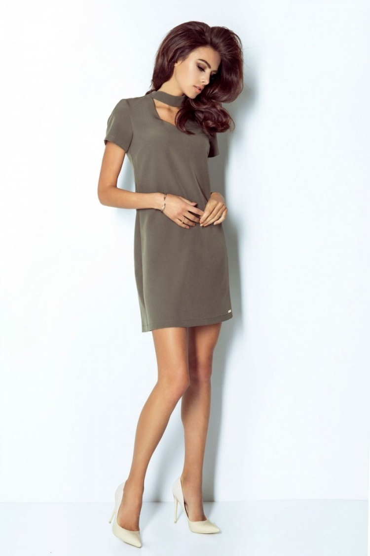 Sukienka Model Elena 204 Khaki - IVON