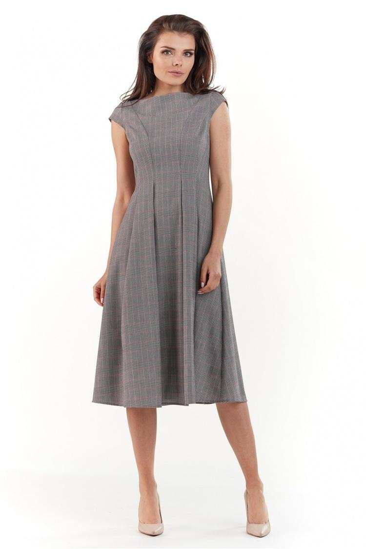 Sukienka Model A222 Kratka Szara - awama