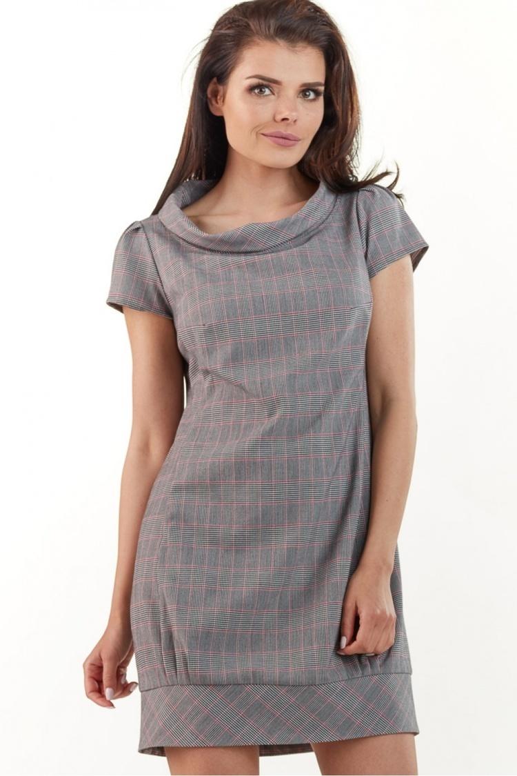 Sukienka Model A220 Kratka Szara - awama