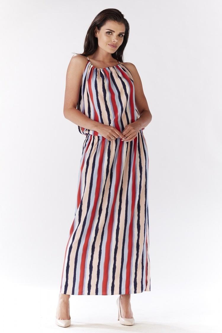 Sukienka A184 paski - awama