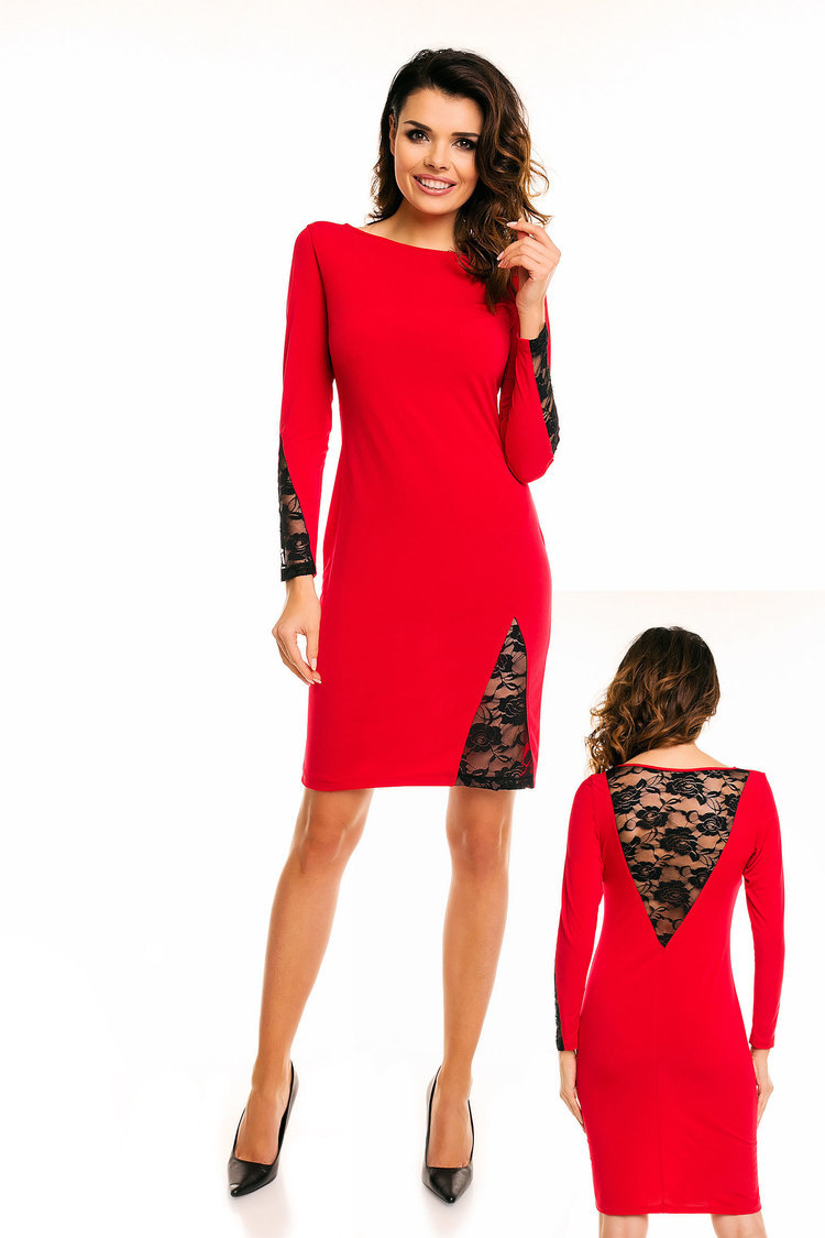 Sukienka A128 Red - awama