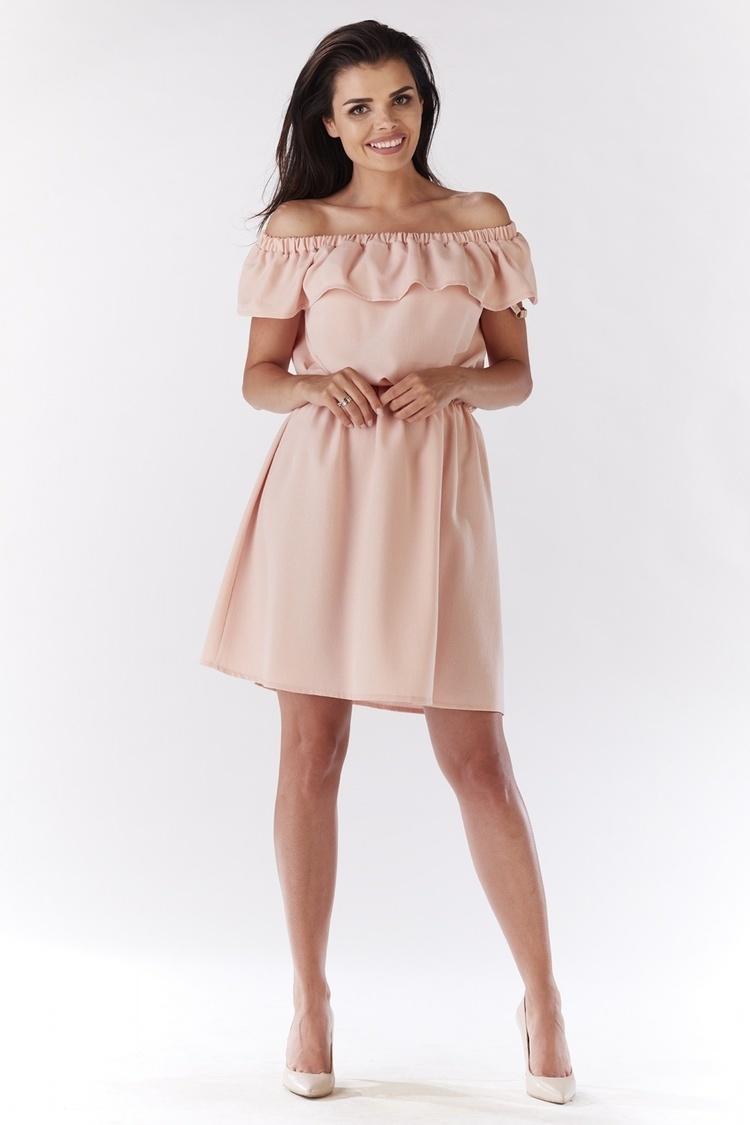 Sukienka Model A185 Light Pink - awama