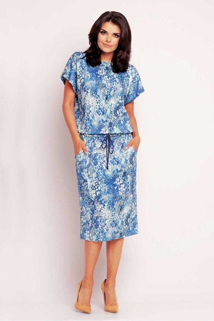Sukienka Model A145 Blue - awama