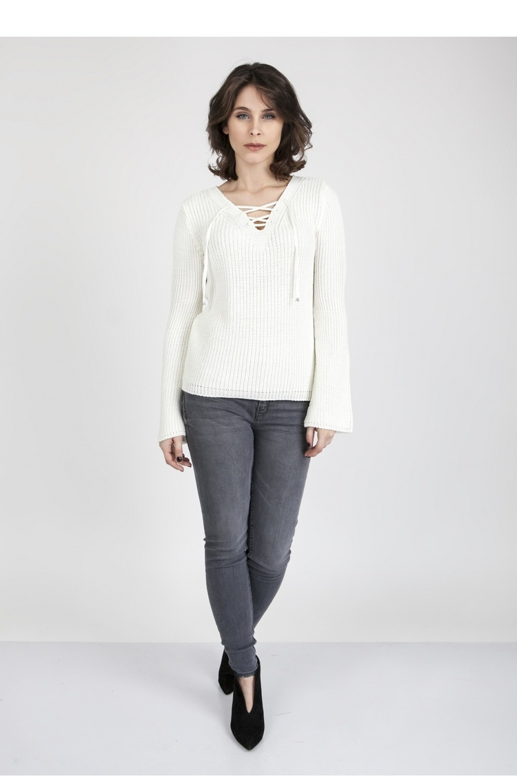 Sweter SWE117 Ecru - MKM
