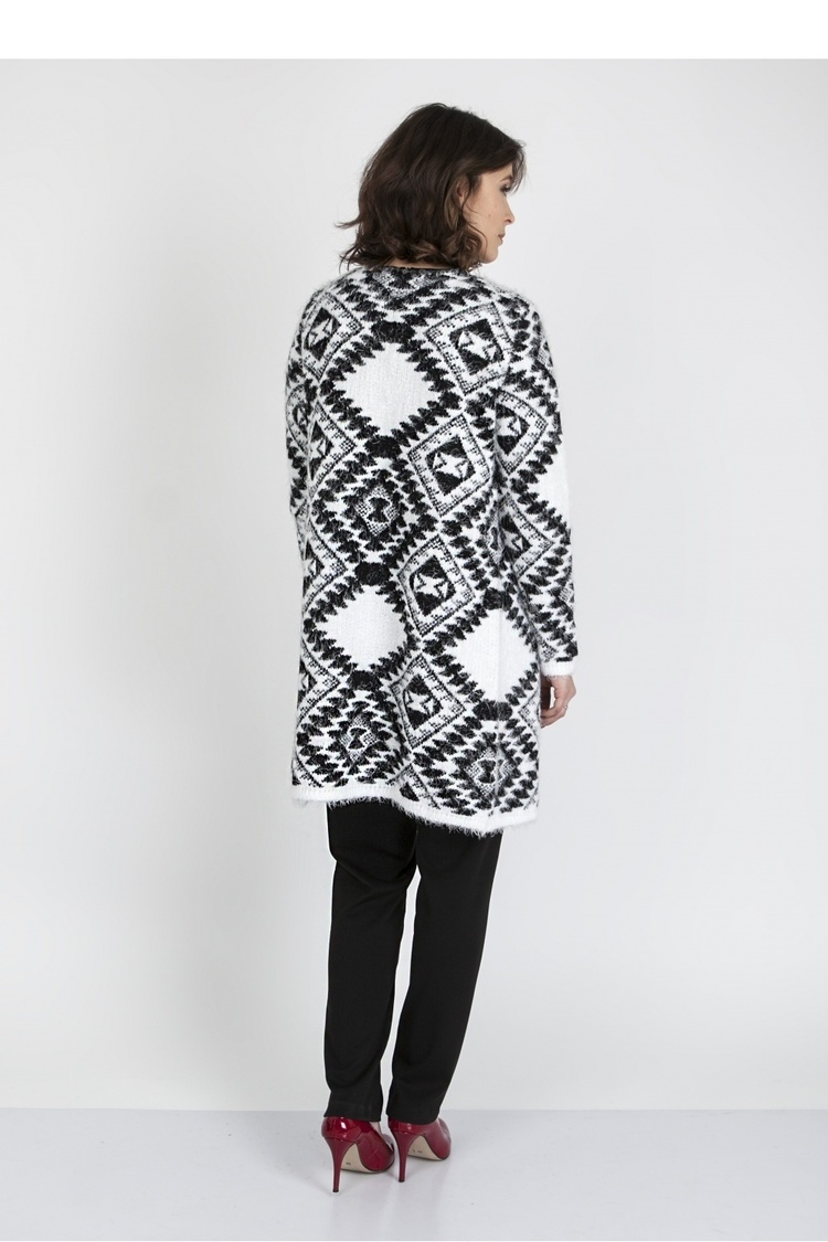 Sweter SWE104 Black/White - MKM