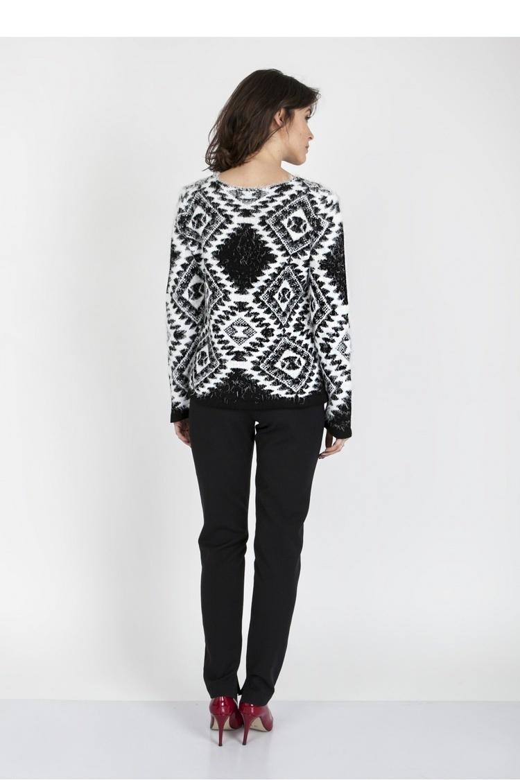 Sweter SWE101 Black/White - MKM