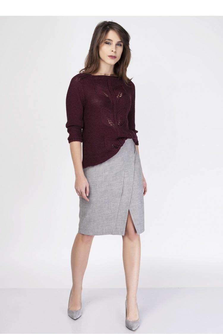 Sweter SWE107 Bordaux - MKM