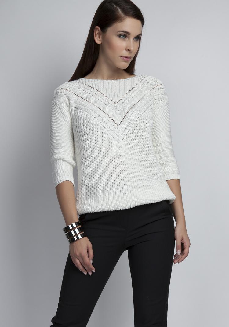 Sweter Damski Model Penny SWE041 Ecru - MKM