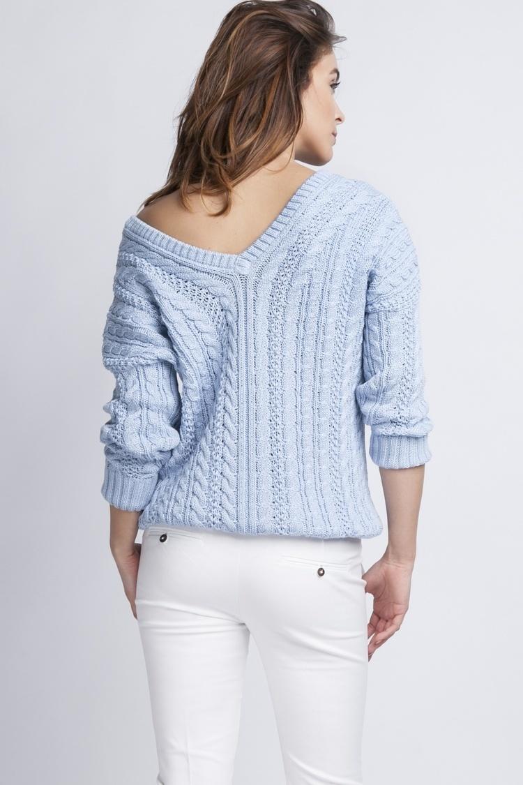 Sweter SWE079 Light Blue - MKM