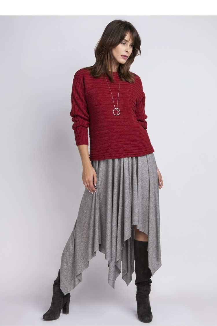 Sweter SWE089 Bordaux - MKM