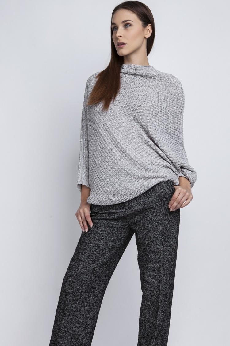 Sweter SWE049 Szary - MKM