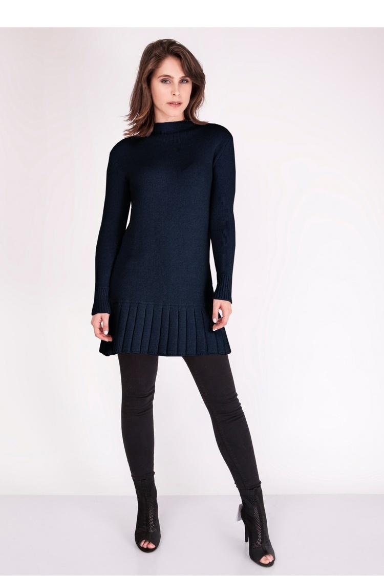 Sukienka Sweter SWE129 Navy Blue - MKM