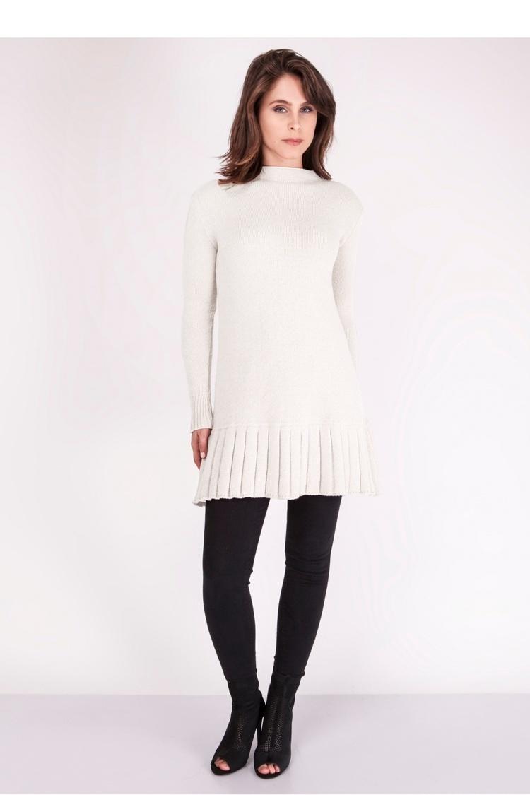 Sukienka Sweter SWE129 Ecru - MKM