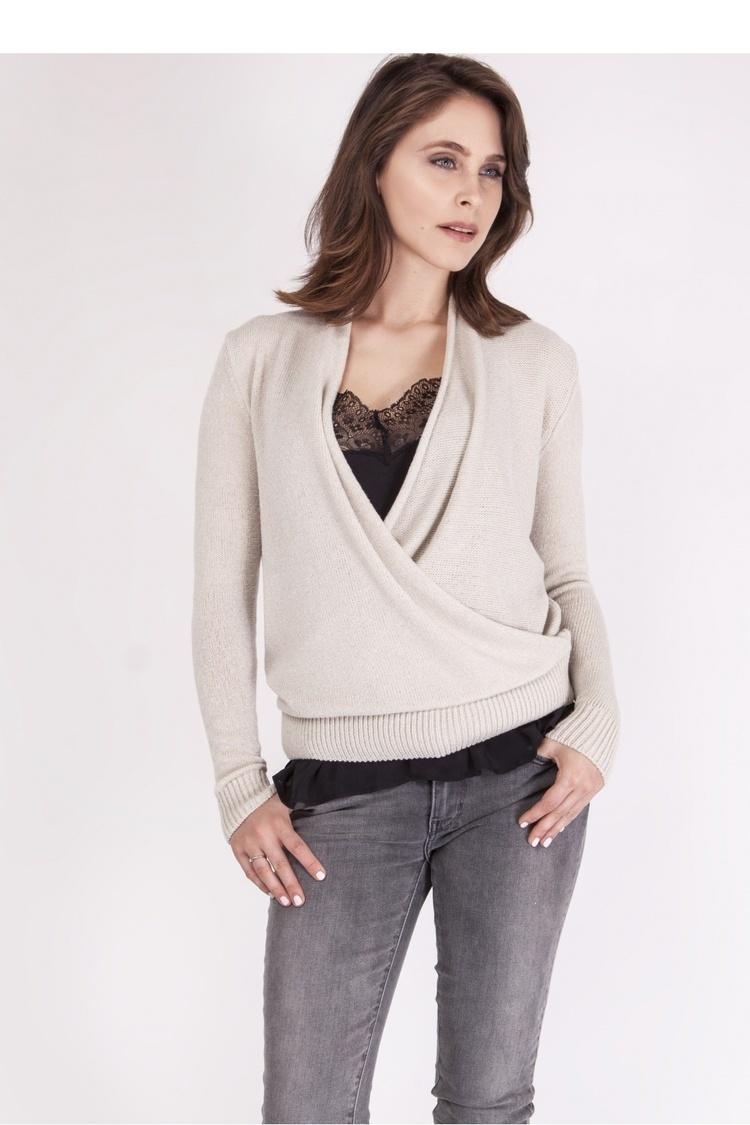 Sweter SWE126 Beige - MKM