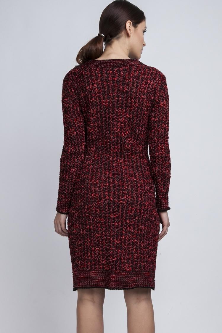 Sukienka dzienna SUK002 Black/Red - MKM
