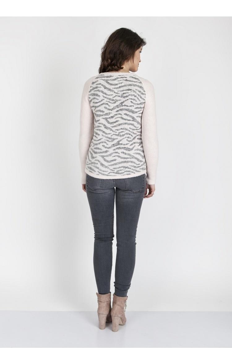 Sweter SWE118 Pink/Gray - MKM
