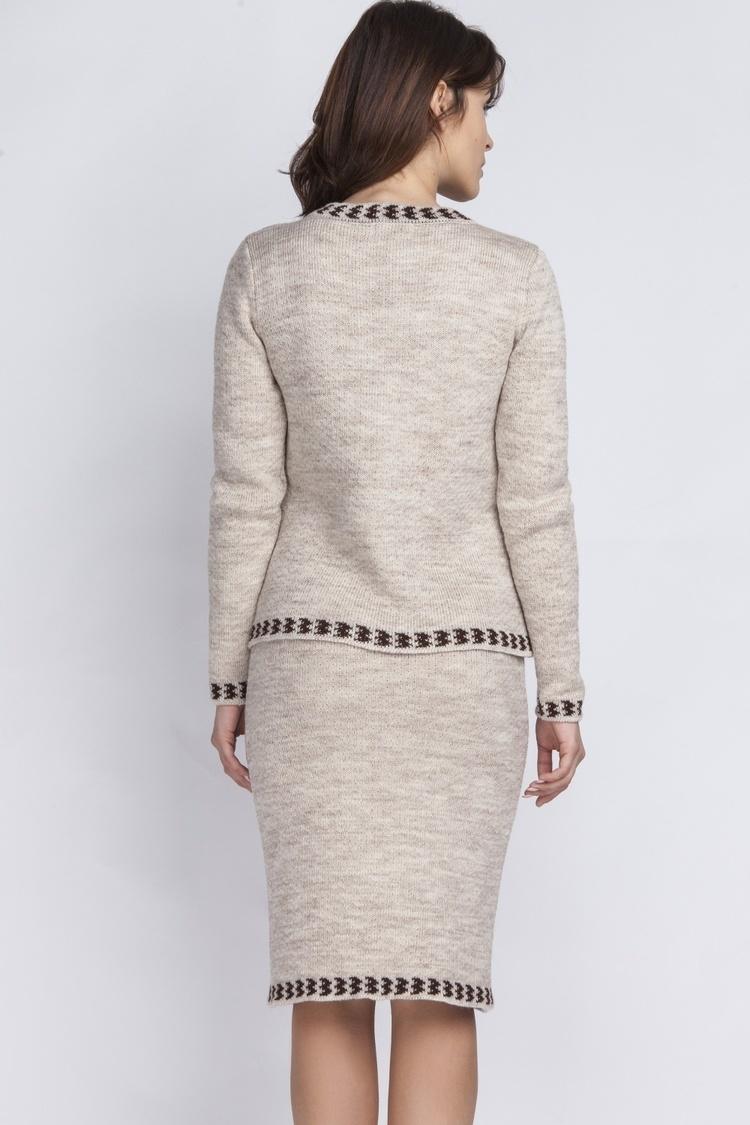 Spódnica Kostium model KOS001 Beige - MKM