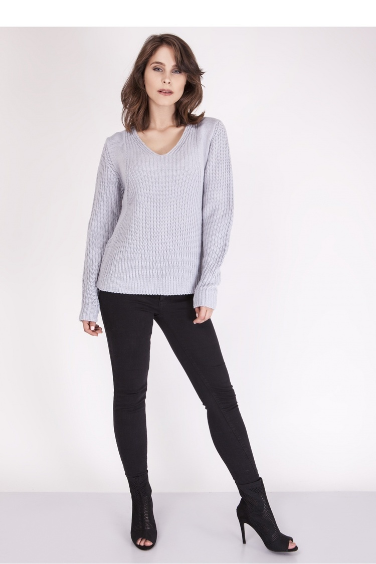 Sweter SWE123 Light Gray - MKM