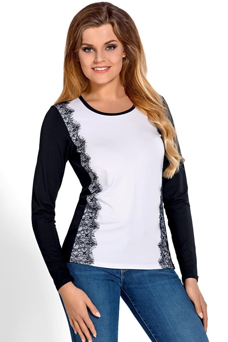 Bluzka Model Sila Black/White - Babell