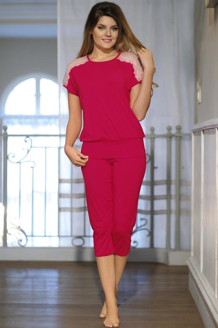 Piżama Model Gracja Light Rubin - Babella