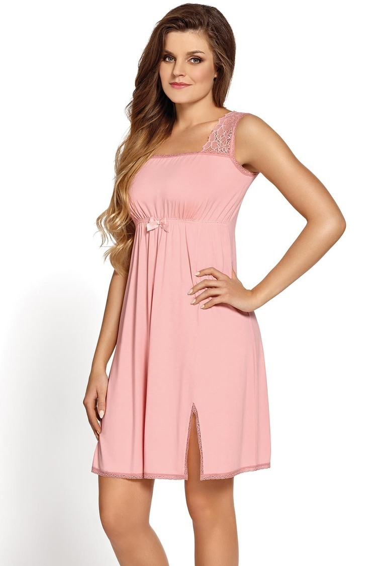 Koszulka nocna Koszula Nocna Model Aurora Pink - Babella