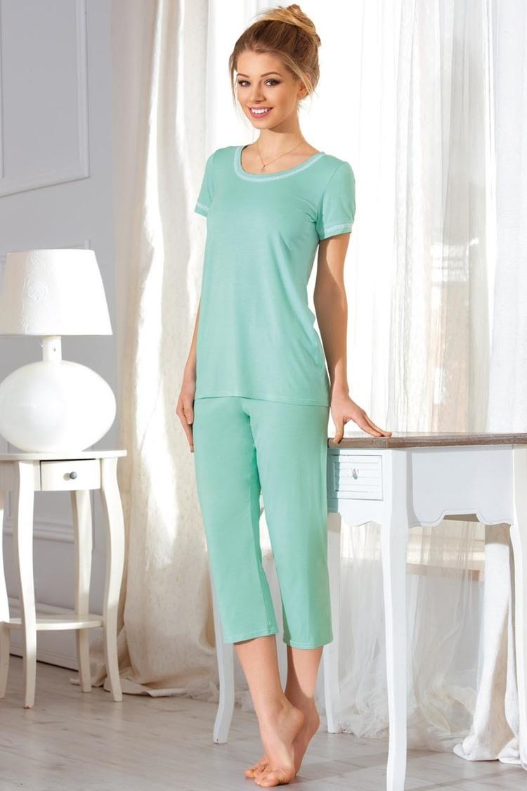 Piżama Damska Model Ivet Mint - Babella