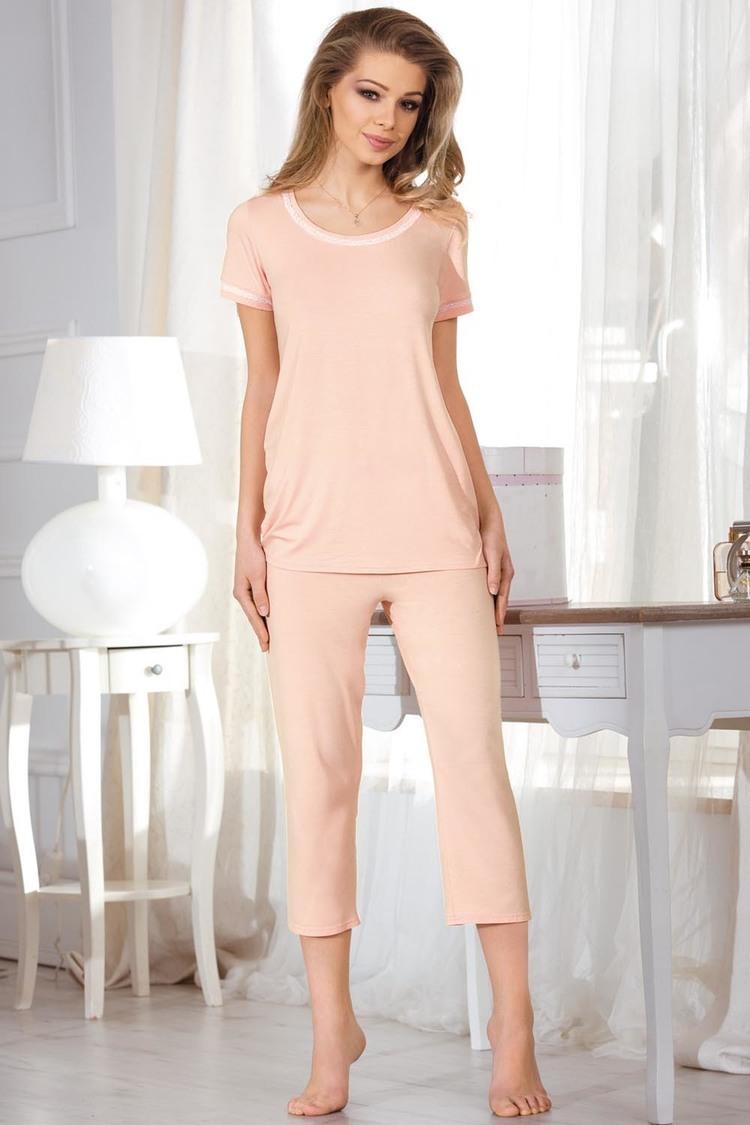Piżama Damska Model Ivet Brzoskwinia - Babella