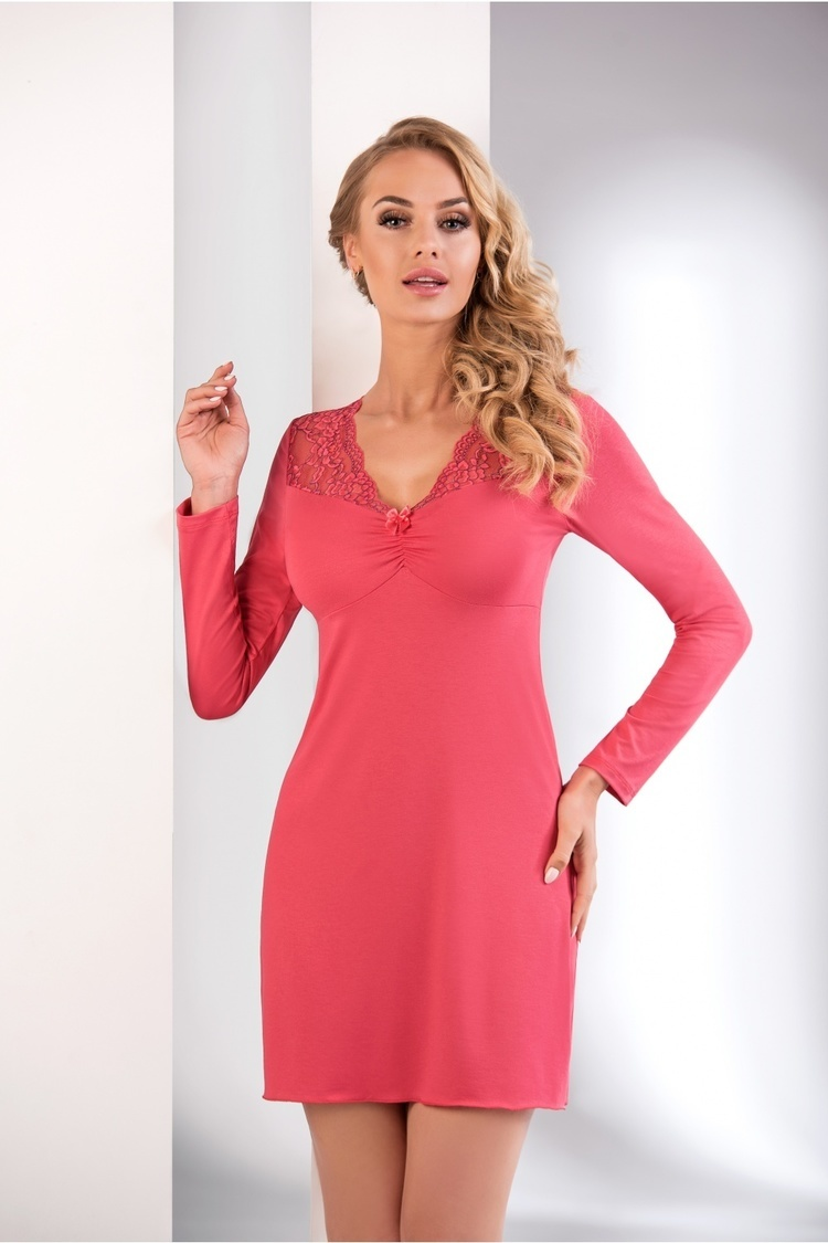 Koszulka nocna Koszula Nocna Model Mery Coral - Donna