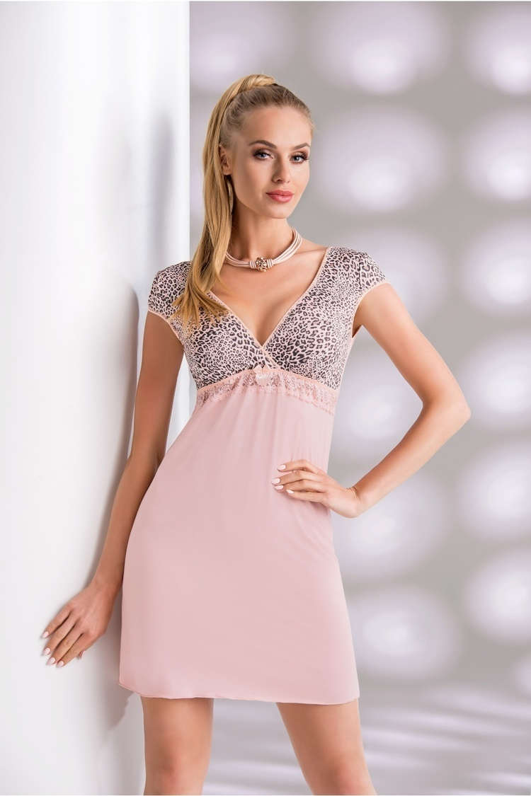 Koszulka nocna Koszula Nocna Model Marika Dirty Pink - Donna