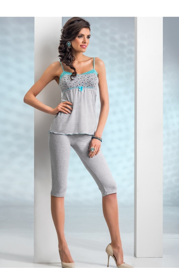 Piżama Damska Model Michelle 3/4 Grey - Donna