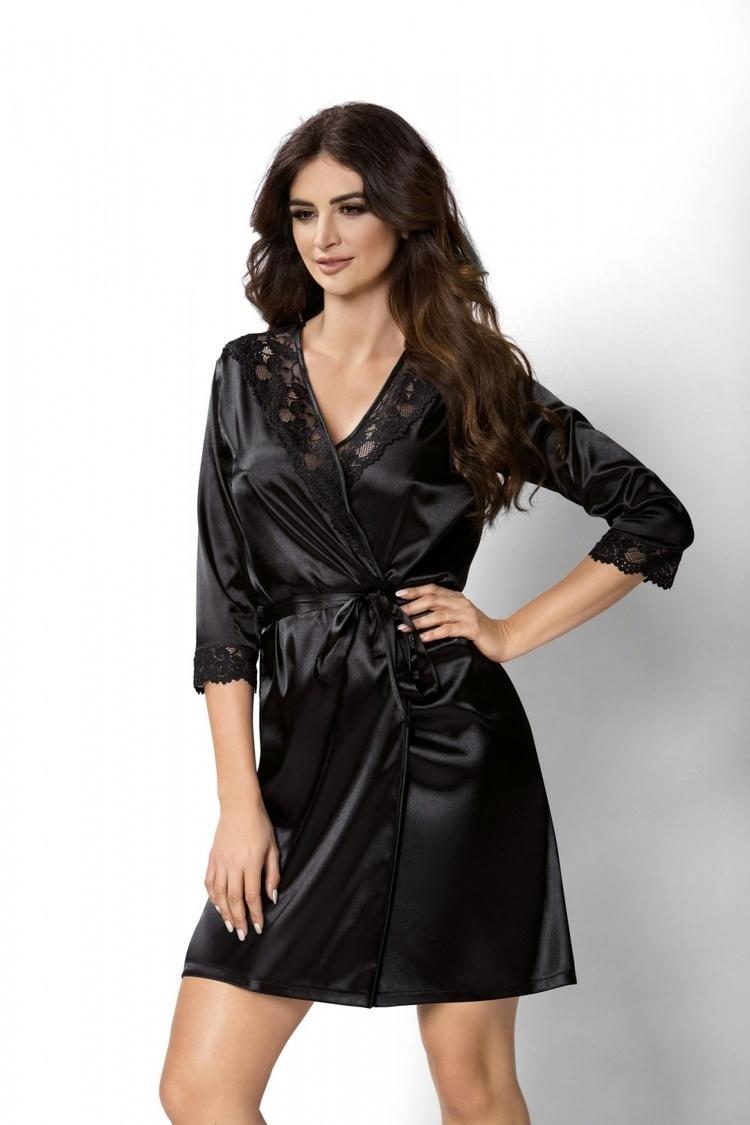 Szlafrok Damski Model Venus Black - Donna