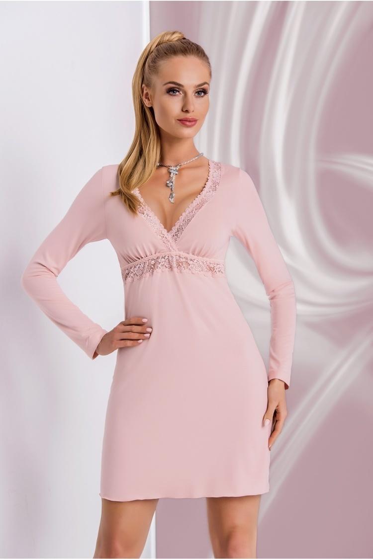 Koszulka nocna Koszula Nocna Model Ariana II Dirty Pink - Donna