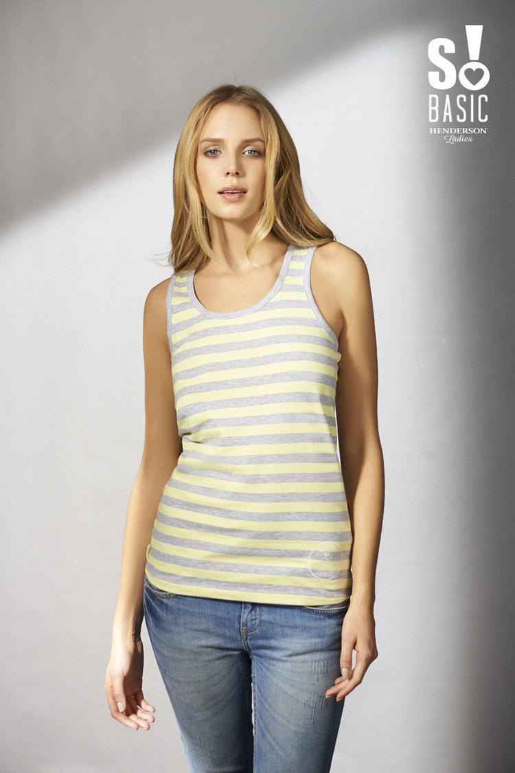 Koszulka Bokserka Model Vivienne 33237-09X Yellow/Grey - Esotiq