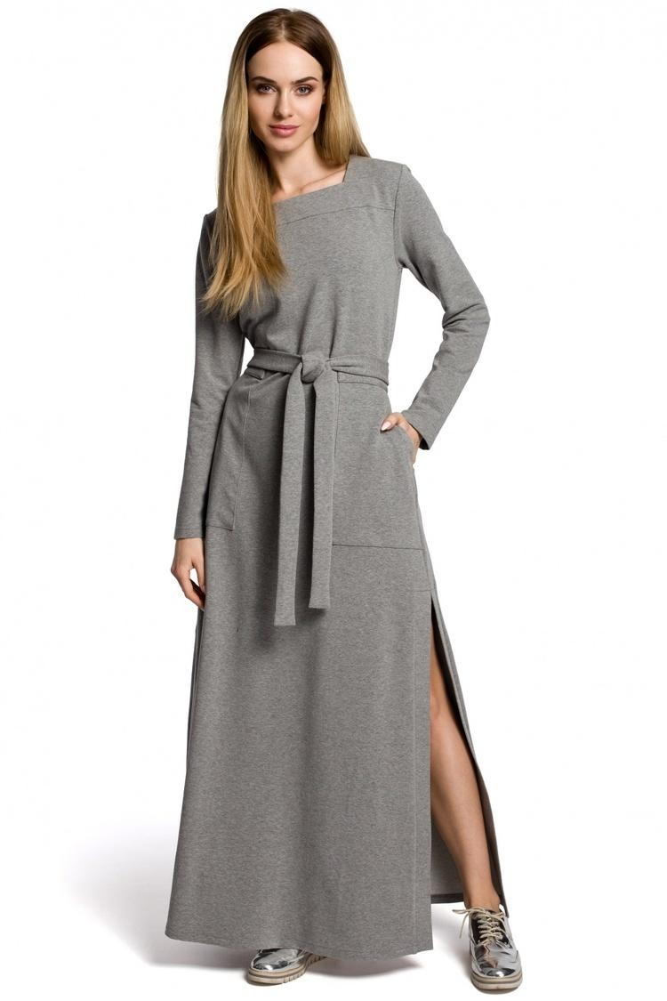 Sukienka Model MOE354 Grey - Moe