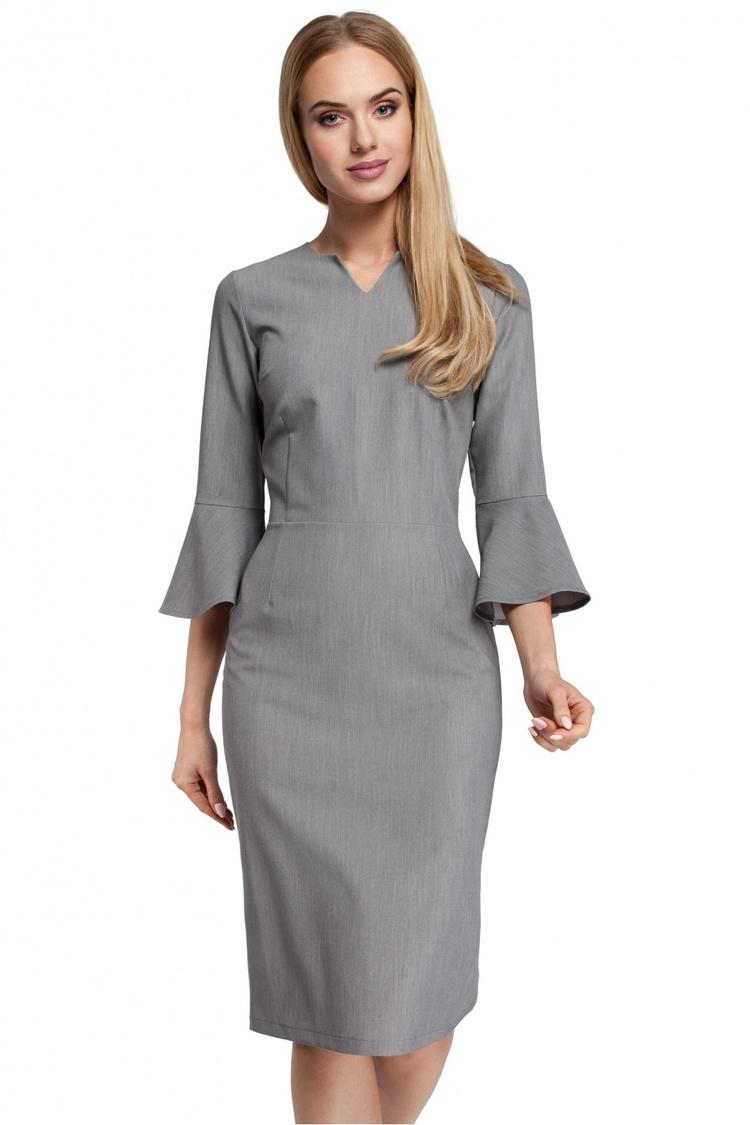 Sukienka Model MOE299 Grey - Moe