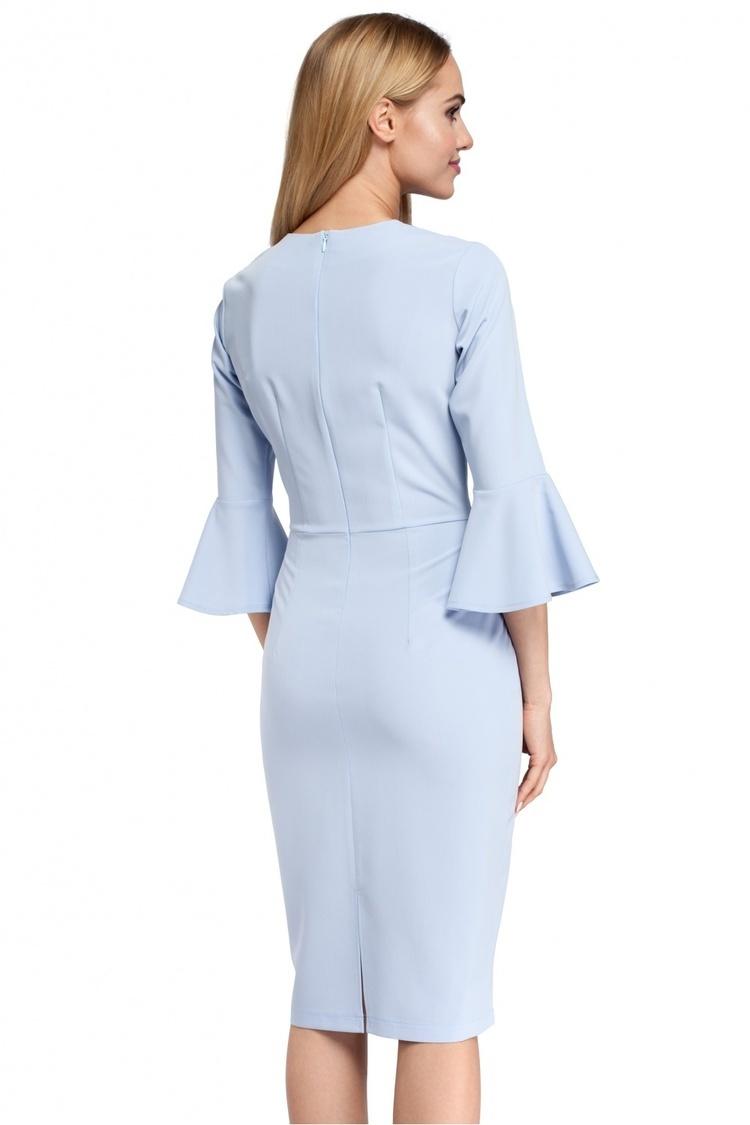 Sukienka Model MOE299 Sky Blue - Moe