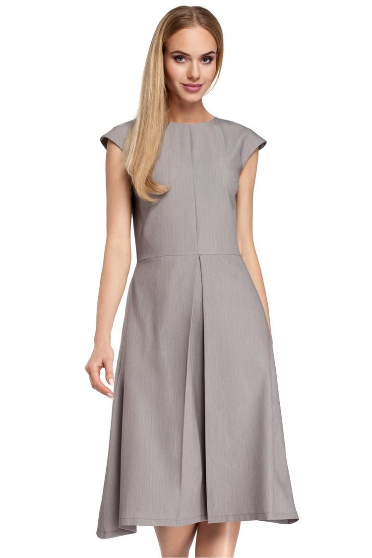 Sukienka Model MOE296 Grey - Moe