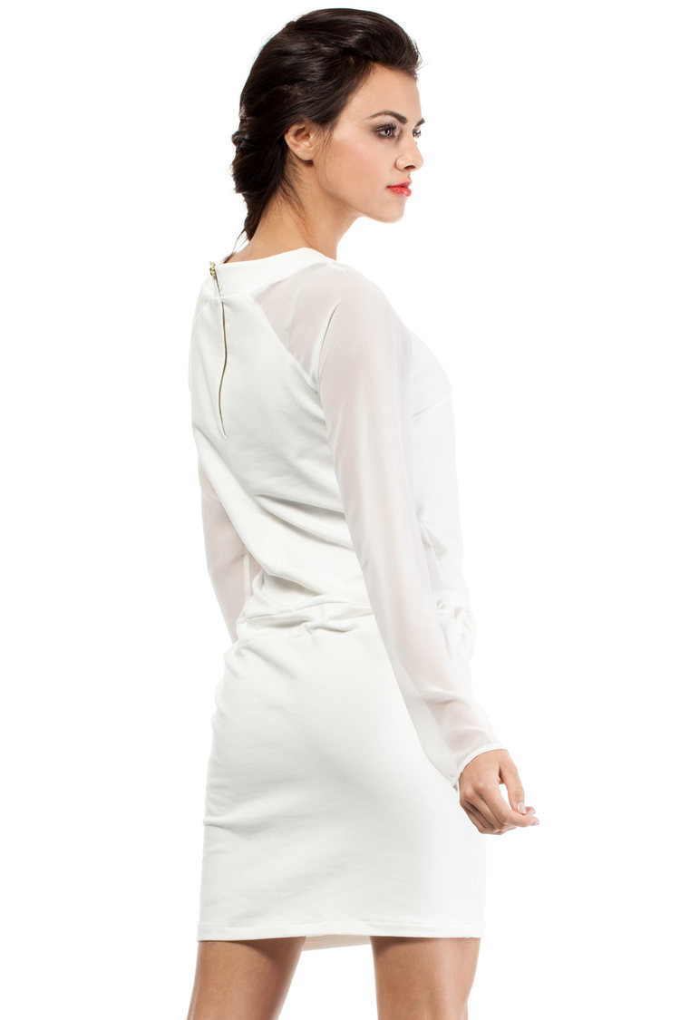 Sukienka Model MOE206 Ecru - Moe