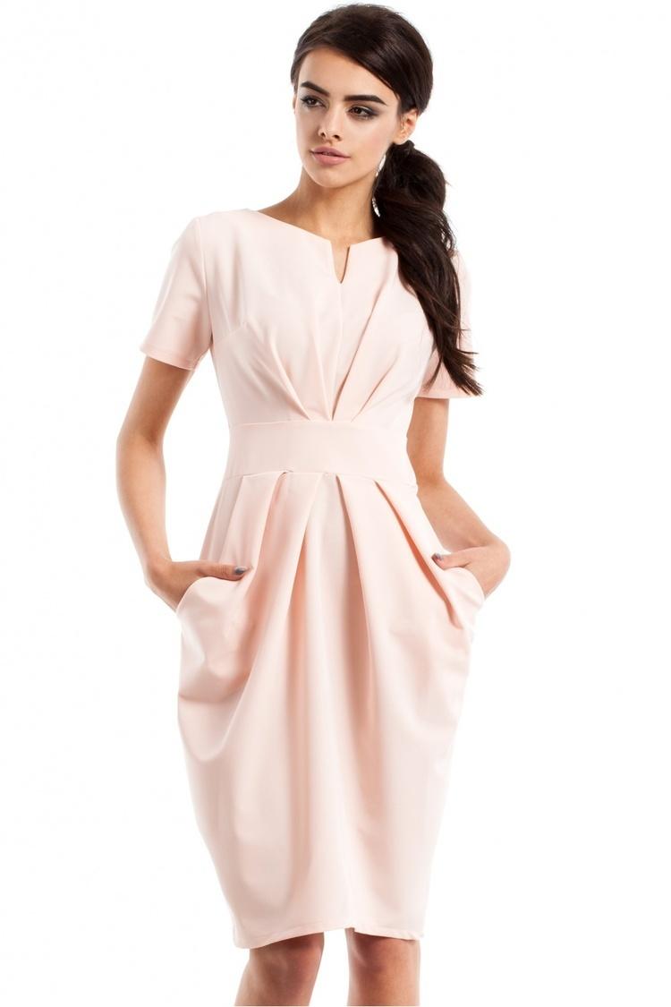 Sukienka Model MOE234 Powder Pink - Moe