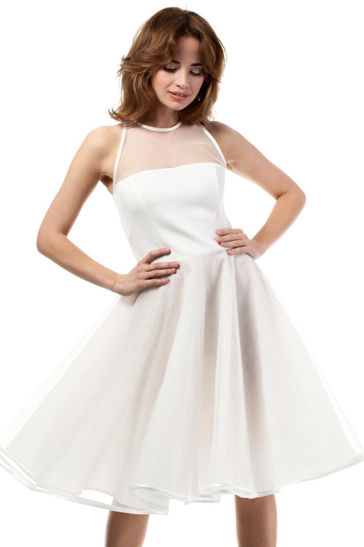 Sukienka Model MOE148 Ecru - Moe