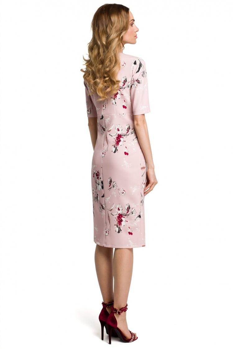 Sukienka Model MOE383 Powder Pink - Moe
