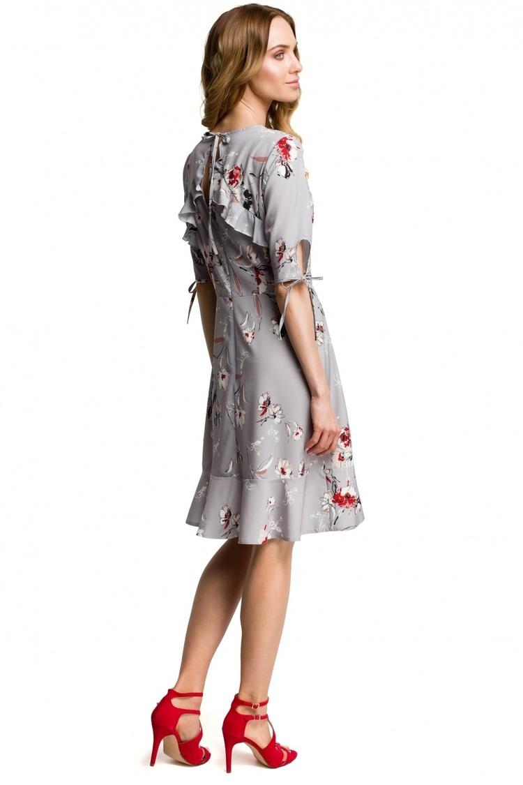 Sukienka Model MOE381 Grey - Moe