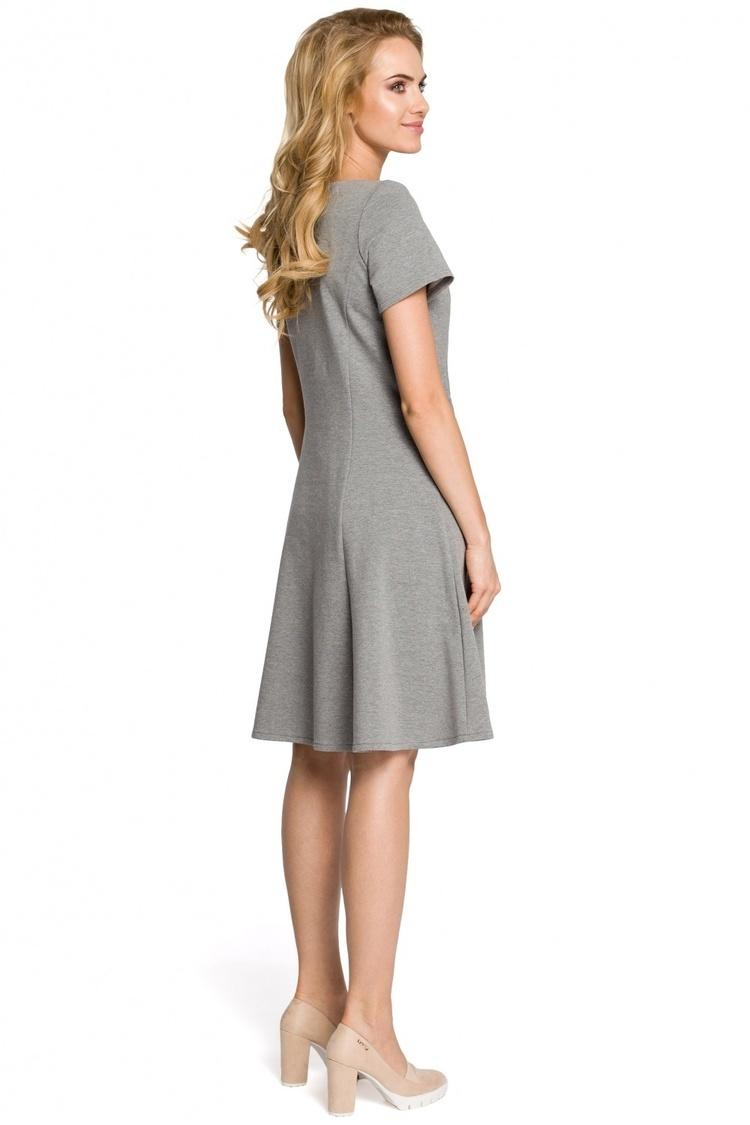 Sukienka Model MOE316 Grey - Moe