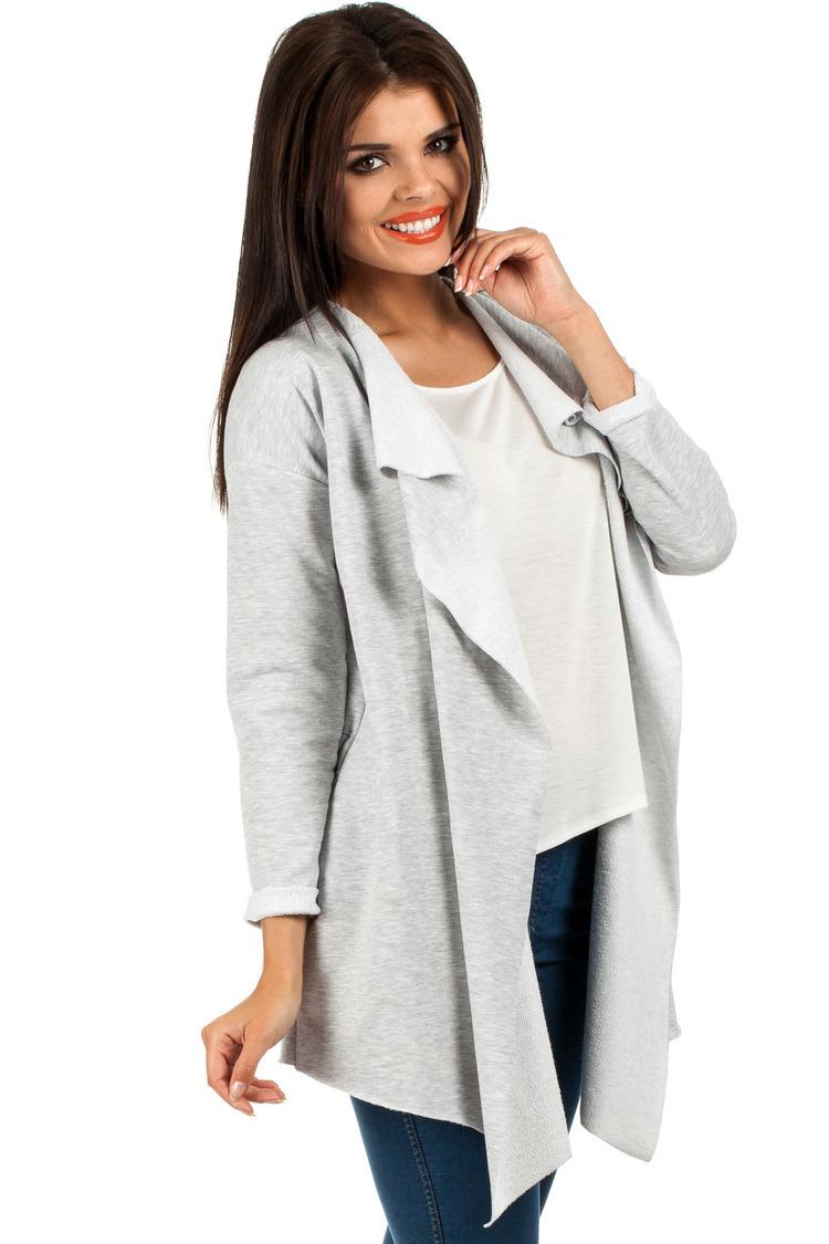 Sweter Damski Model MOE102 Grey - Moe