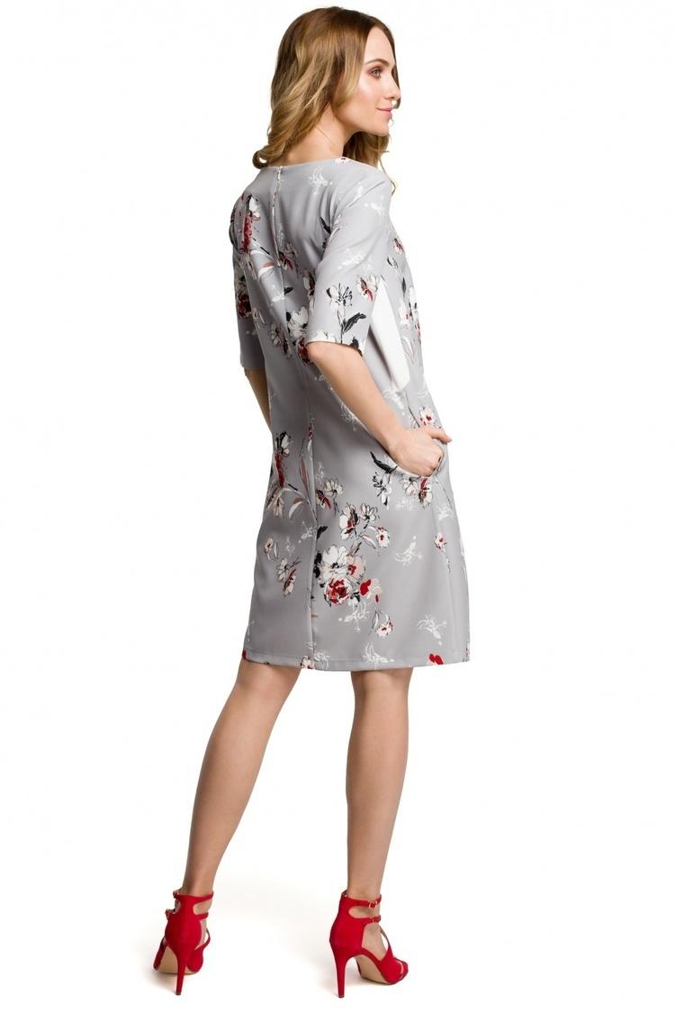Sukienka Model MOE379 Grey - Moe