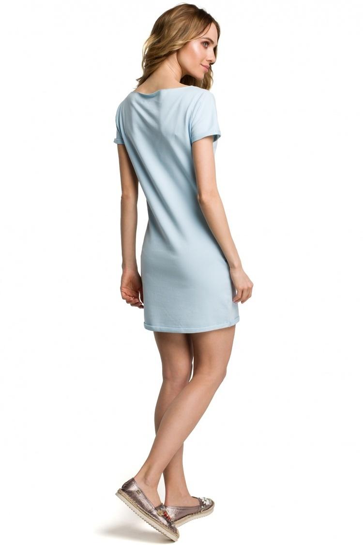 Sukienka Model MOE374 Sky Blue - Moe
