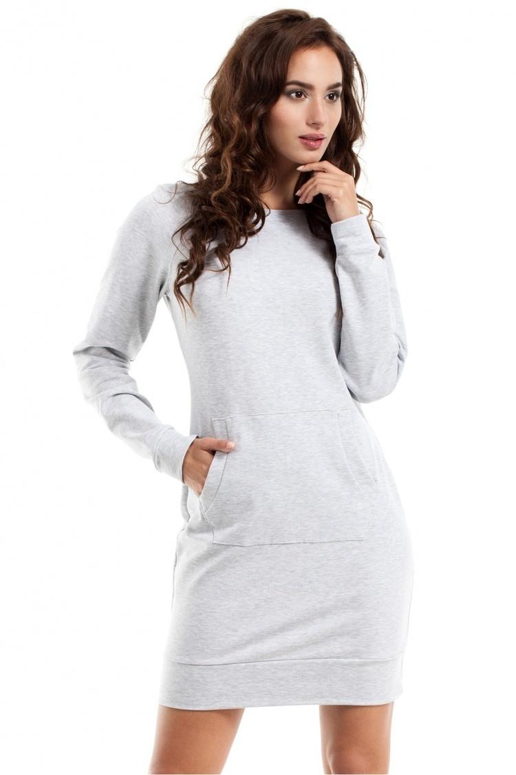 Sukienka Model MOE248 Popiel - Moe