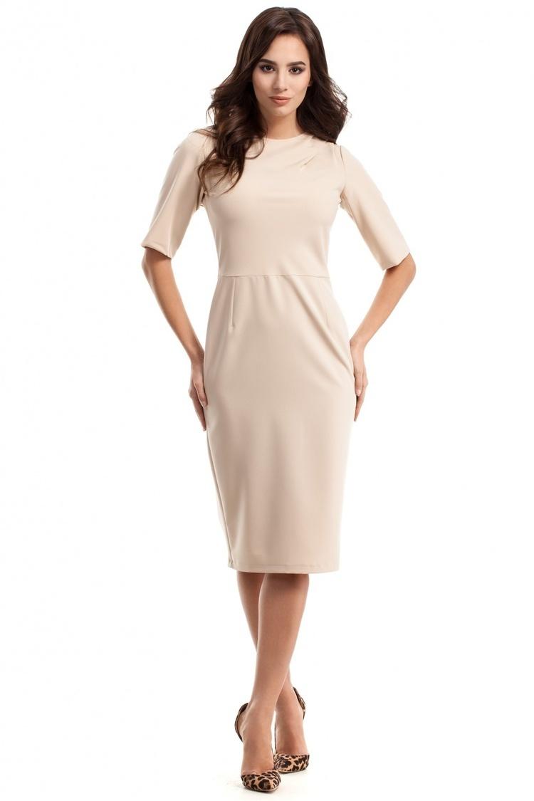 Sukienka Model MOE276 Beige - Moe
